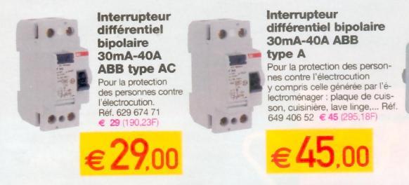 differenti el - Disjoncteur Differentiel Pour Salle De Bain